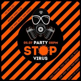 STOP VIRUS PARTY INSTAGRAM BANNER