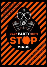 STOP VIRUS PARTY POSTER
