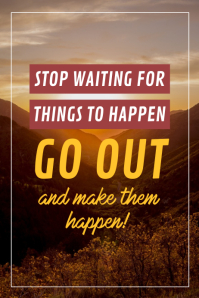 Stop Waiting Typographical Motivational Office Poster