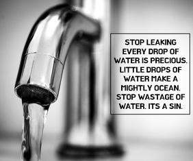 STOP WASTAGE WATER QUOTE TEMPLATE Большой прямоугольник