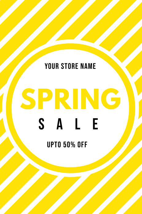 STORE BANNER POSTER FOR SALE template