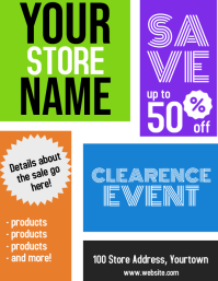 Store Clearence Sale Flyer