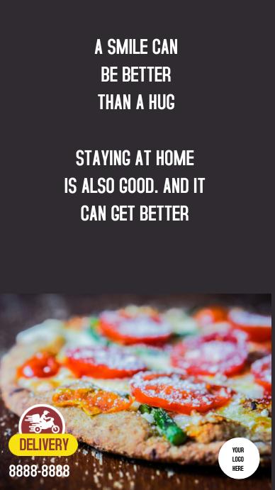 Store Delivery pizza Instagram-verhaal template
