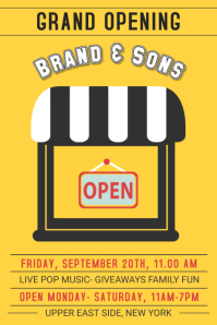 Store Grand Opening Poster Template