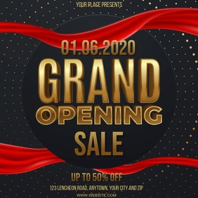 STORE GRAND RE-OPENING EVENT Design Template