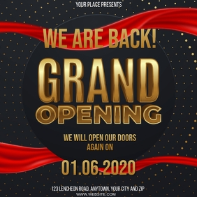 STORE GRAND RE-OPENING EVENT Design Template Square (1:1)