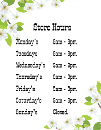 Customizable Design Templates for Opening Hours | PosterMyWall