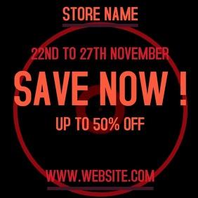 store market sale ad flyer template Logo