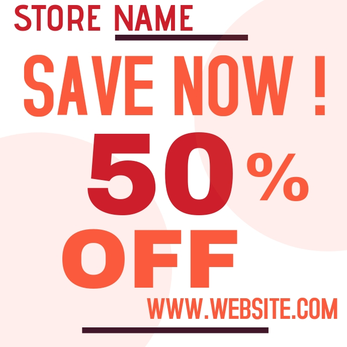 store market sale ad template 徽标