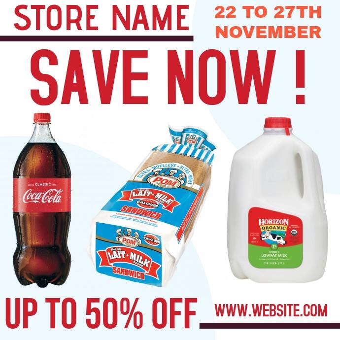 store market sale ad template