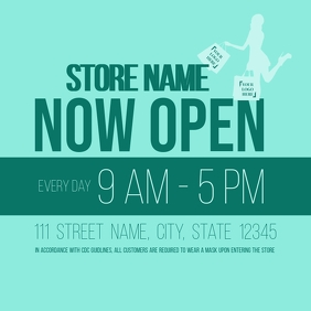 Store Now Open Announcement