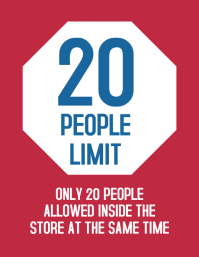 Store sign 20 people limit at once inside ad Flyer (US Letter) template
