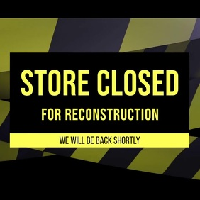 Store under construction video Instagram Post template