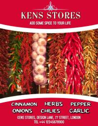 Stores, Shop pepper poster flyer