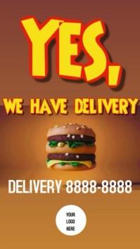 Stores Burger Delivery Instagram-verhaal template