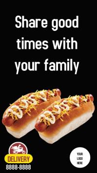 Stores Delivery hotdog Instagram-verhaal template