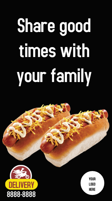 Stores Delivery hotdog Instagram 故事 template