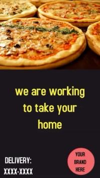 Stores Delivery Pizza เรื่องราวบน Instagram template