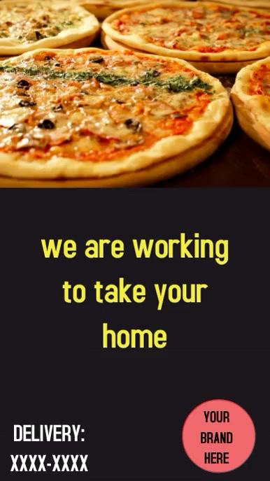 Stores Delivery Pizza Instagram-verhaal template
