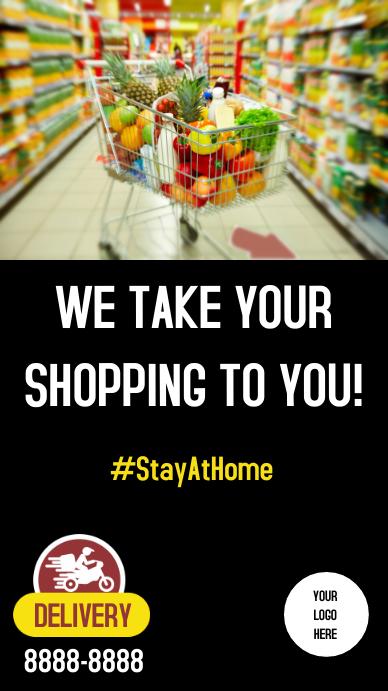 Stores Delivery supermarket Instagram-verhaal template