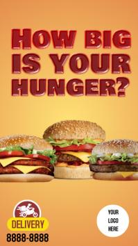 Stories Burger Instagram 故事 template