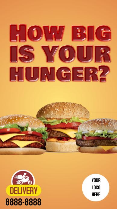 Stories Burger Instagram-verhaal template