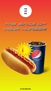 Stories Hot dog with Pepsi