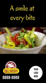 Stories Instagram Smile salad template