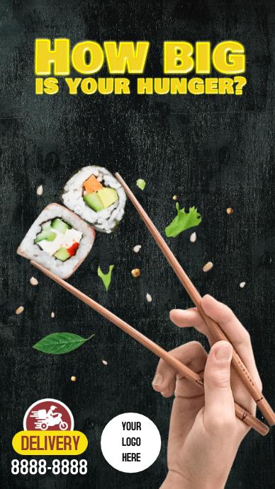 Stories Instagram Sushi Instagram-verhaal template