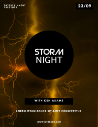 Storm club party flyer design template