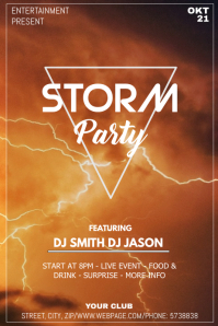 Storm party event flyer template