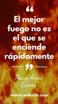 Story de citación sobre el fuego