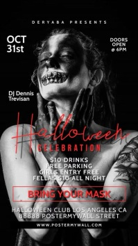 Story Halloween Celebration Flyer Party Event Historia de Instagram template