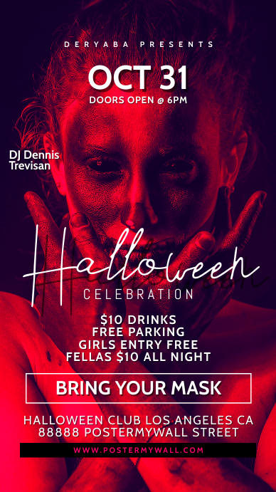 Story Halloween Celebration Flyer Party Event template