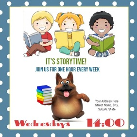 Story Time Flyer Template Square (1:1)