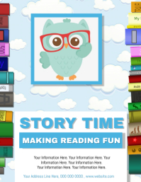 Story Time / Reading Classes Flyer Template