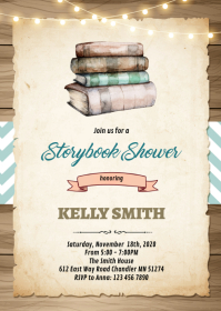 Storybook shower party invitation