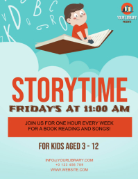 STORYTIME FLYER AD Template
