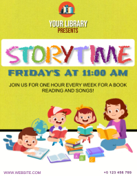 STORYTIME FLYER AD Template Volante (Carta US)