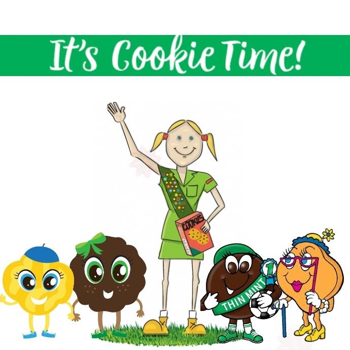 Girl Scout Cookies Instagram Post template