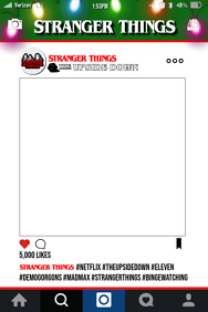Stranger Things Party Prop Frame