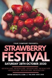 Strawberry Festival Poster template