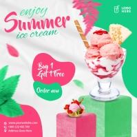 Strawberry Ice Cream Square (1:1) template