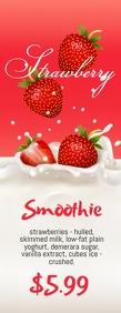 Strawberry Smoothie Halfbladsy Brief template