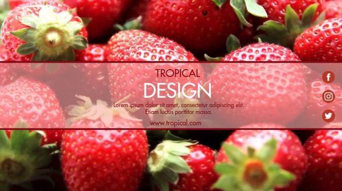 STRAWBERRY TROPICAL DESIGN TEMPLATE Digital Display (16:9)