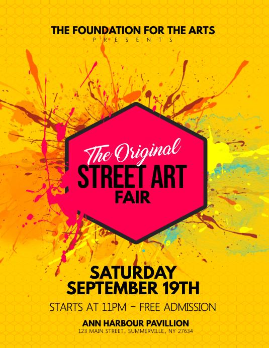 Street Art Fair Flyer Template Postermywall