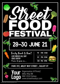 Street Food Festival Poster flyer promo food party