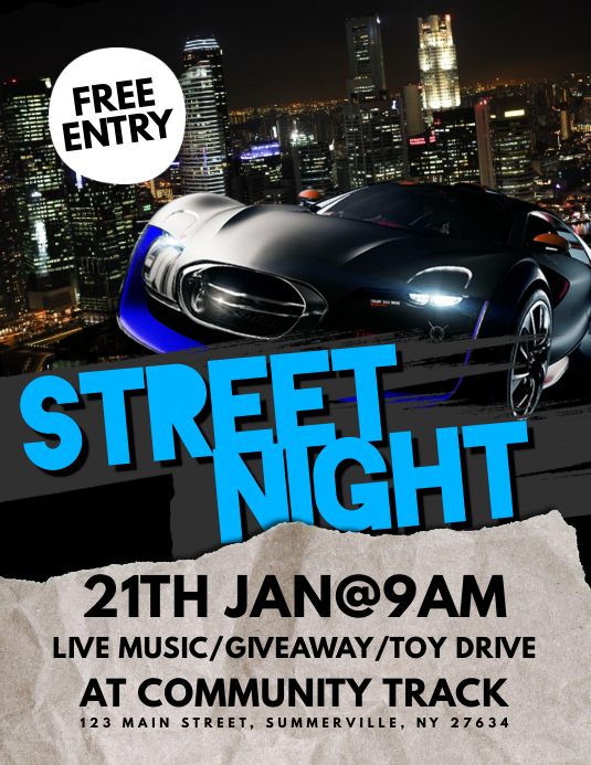 Street Night Flyer Pamflet (VSA Brief) template