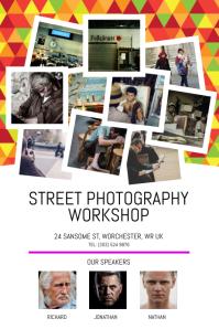 Street Photography Workshop Poster Cartaz template