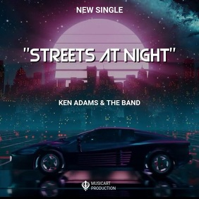 Streets at night video album cove template Pochette d'album